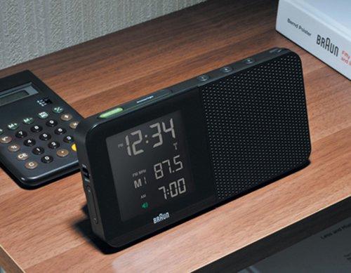【BRAUN/ブラウン】アラームクロック BNC010・ブラック(ラジオ機能付)