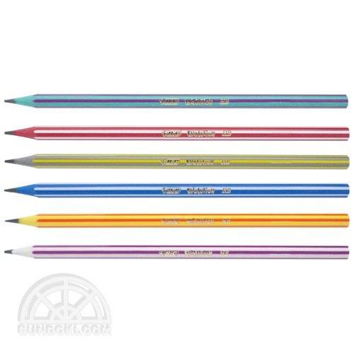 【BIC/ビック】EVOLUTION colors/エボリューション鉛筆・ストライプ
