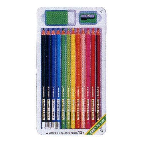 【三菱鉛筆/MITSUBISHI】890 12CSH/スタンダード色鉛筆12色【金箔押し名入れ】