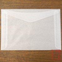 白無地グラシン封筒10枚セット(ポストカードサイズ)