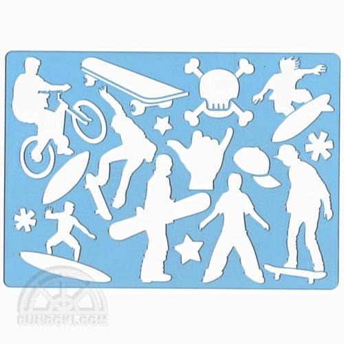 【KOH-I-NOOR/コヒノール】テンプレート(SKATEBOARD/スケートボード)