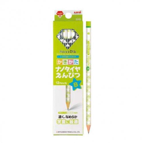 【三菱鉛筆/MITSUBISHI】かきかた六角 ナノダイヤ鉛筆 緑【名入れ】