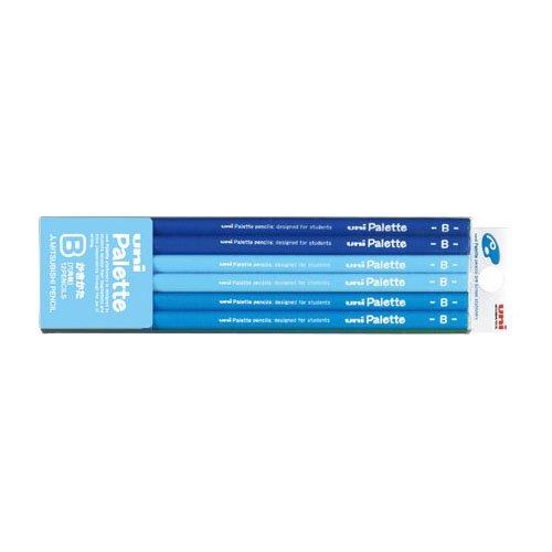 【三菱鉛筆/MITSUBISHI】かきかた六角鉛筆 ユニパレット パステルブルー【名入れ】