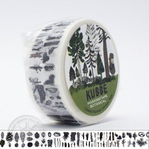 【有限会社くま/KUMA】KUBBE/キュッパ マスキングテープ(木の実)