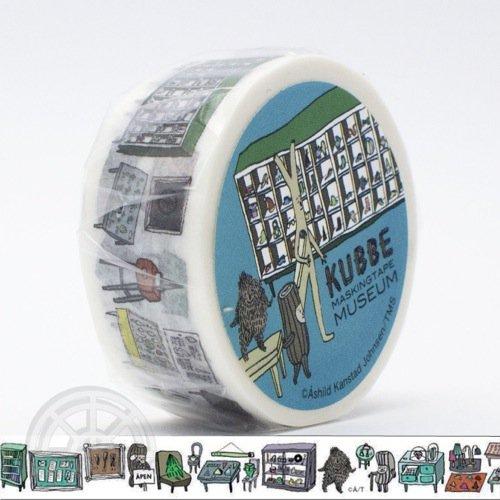 【有限会社くま/KUMA】KUBBE/キュッパ マスキングテープ(博物館)