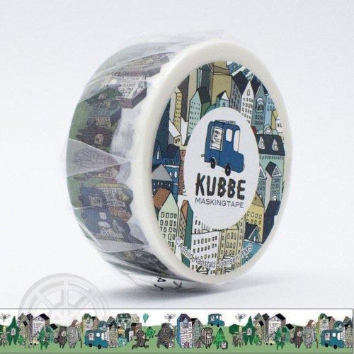 【有限会社くま/KUMA】KUBBE/キュッパ マスキングテープ(街)