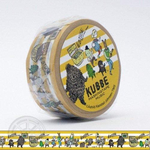 【有限会社くま/KUMA】KUBBE/キュッパ マスキングテープ(ミュージック)
