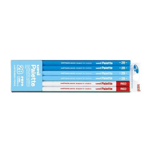 【三菱鉛筆/MITSUBISHI】かきかた六角鉛筆 ユニパレットパステルブルー+赤鉛筆【名入れ】