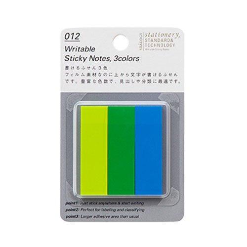 【STALOGY】012 Writable Sticky Notes/書けるふせん・3色(B)
