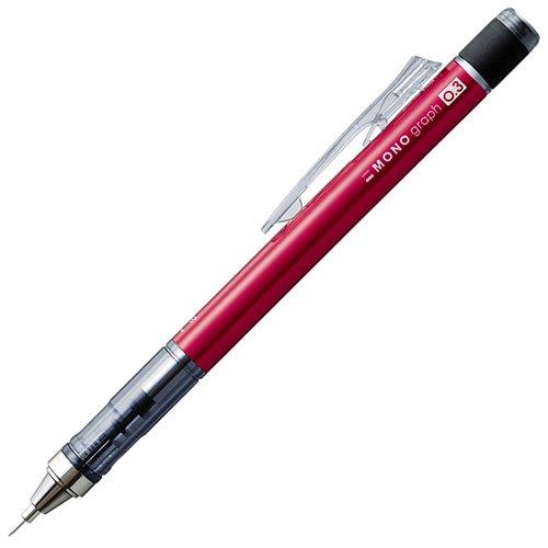 【TOMBOW/トンボ鉛筆】MONO graph/モノグラフ・シャープペンシル(0.3mm/レッド)