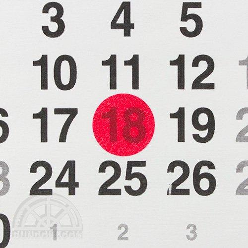 【STALOGY】006 マスキング丸シール(Φ20mm/シャイニングレッド)
