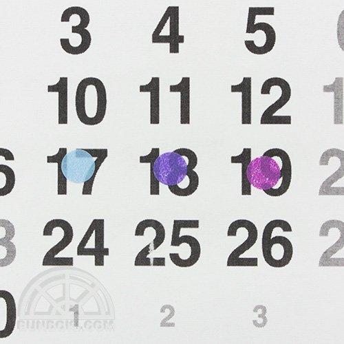 【STALOGY】006 マスキング丸シール シャッフル(Φ8mm/ペール)