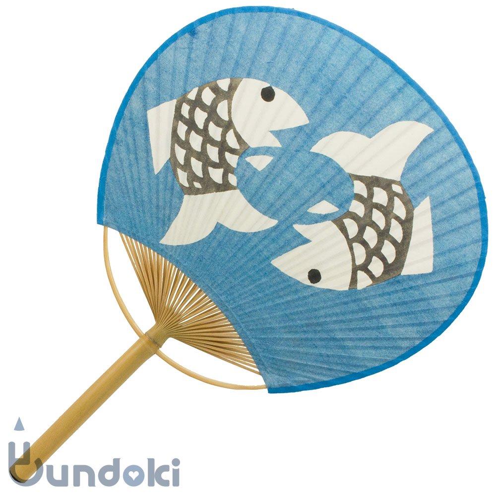 【柚木 沙弥郎】房州うちわ(双魚)