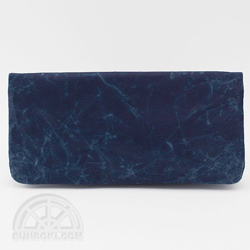 【SIWA・紙和】long wallet/長財布(ダークブルー)