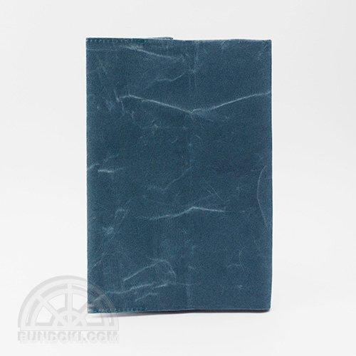 【SIWA・紙和】ブックカバー/文庫サイズ(ブルー)