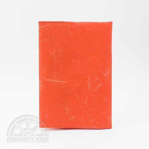 【SIWA・紙和】ブックカバー/文庫サイズ(オレンジ)