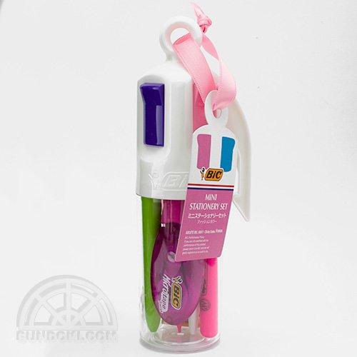 【BIC/ビック】4色ミニペン型ファッションステーショナリーセット(ピンク)
