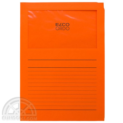 【ELCO/エルコ】Office Ordo ウィンドーファイル 10枚入(オレンジ)
