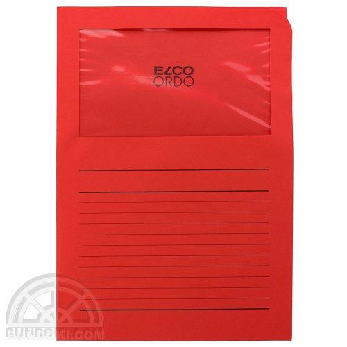 【ELCO/エルコ】Office Ordo ウィンドーファイル 10枚入(ブライトレッド)