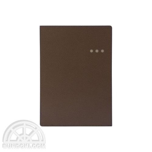 【ITO-YA/伊東屋】COLOR CHART リサイクルレザーケース/A5(アースブラウン)