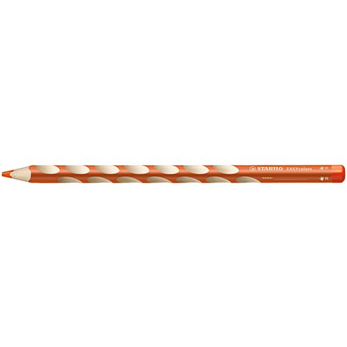 【STABILO/スタビロ】EASY colors 三角軸色鉛筆(単色販売/右利き用・オレンジ)