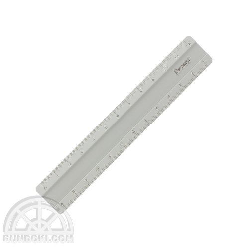 【Barnard/バーナード】アルミ製超高精度定規/12cm(銀)