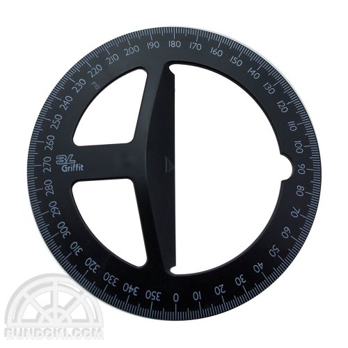 【3L Office products】Griffit PROTRACTOR 360 / 全円分度器(ブラック)