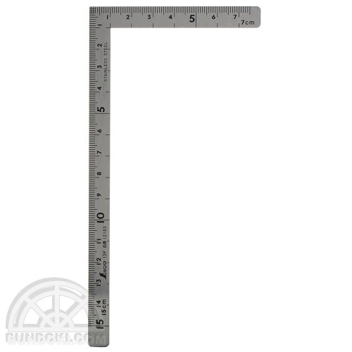 【シンワ測定】小型曲尺・五寸法師ステン/15×7.5センチ