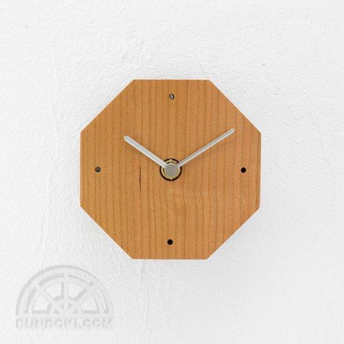 【高橋工芸】Clock 八角形(チェリー)