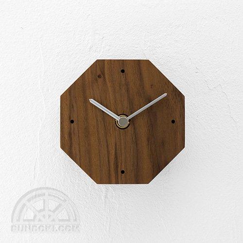 【高橋工芸】Clock 八角形(ウォールナット)