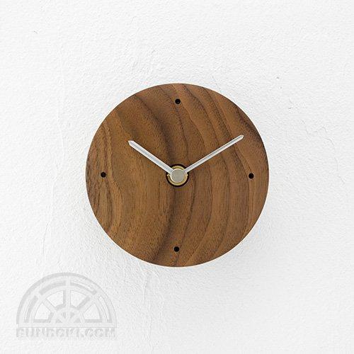 【高橋工芸】Clock 丸(ウォールナット)