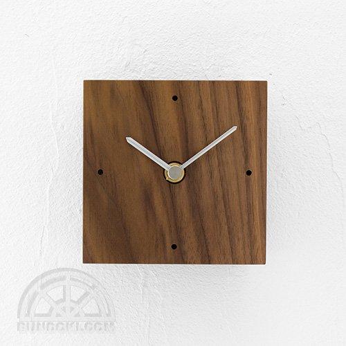 【高橋工芸】Clock 四角(ウォールナット)