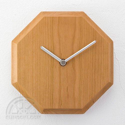 【高橋工芸】Wall Clock 八角形(チェリー)