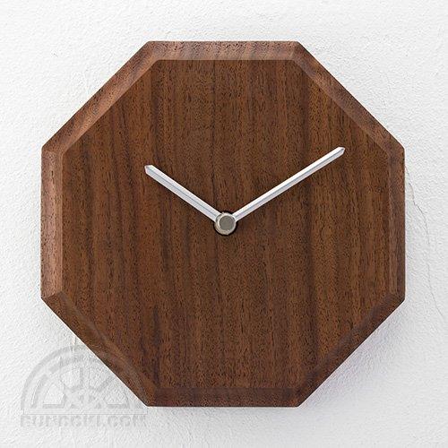 【高橋工芸】Wall Clock 八角形(ウォールナット)