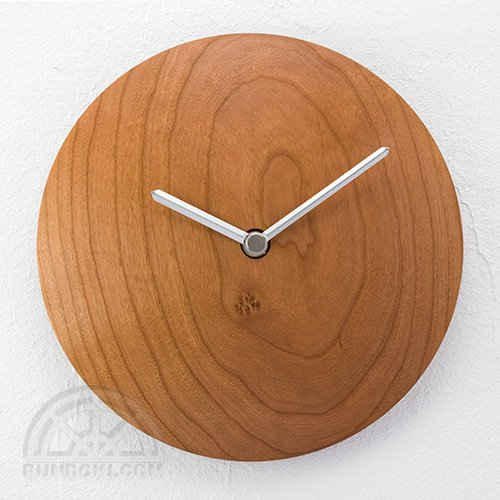 【高橋工芸】Wall Clock 丸(チェリー)