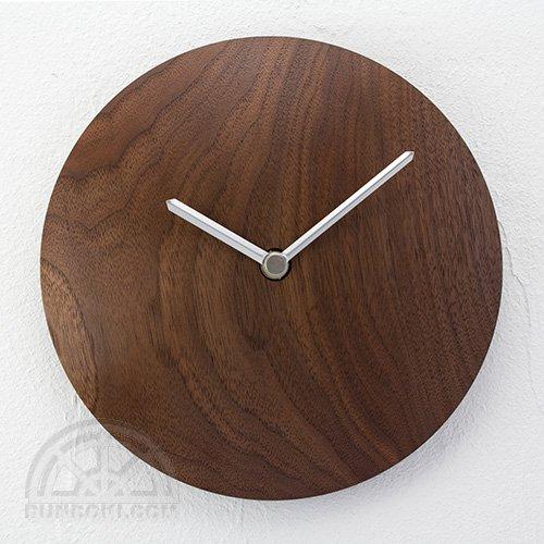 【高橋工芸】Wall Clock 丸(ウォールナット)