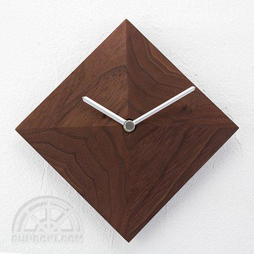 【高橋工芸】Wall Clock 四角錐(ウォールナット)