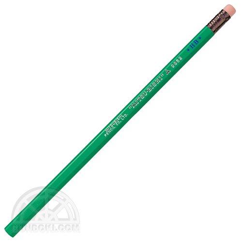 【三菱鉛筆/MITSUBISHI】ロングセラー鉛筆/消しゴムつき鉛筆・9852番(エメラルド色)【限定カラー】