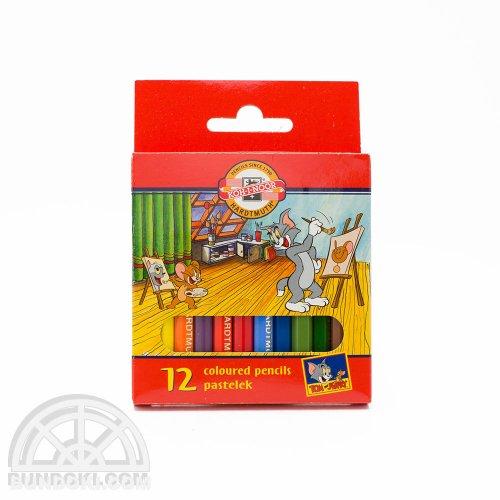 【KOH-I-NOOR/コヒノール】トムとジェリー・ミニサイズ色鉛筆(12色)