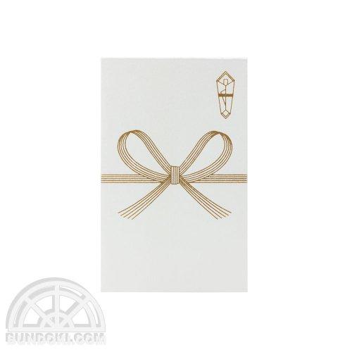 【古川紙工】めでた箔 ぽち袋(花結び・金)