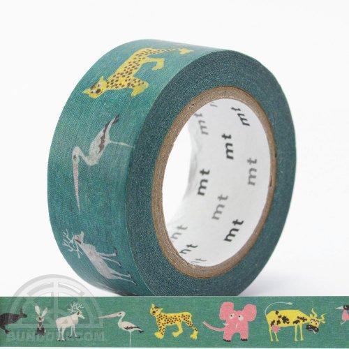 【カモ井加工紙/KAMOI】mtマスキングテープ Olle Eksell/Skansen Animals