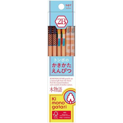 【TOMBOW/トンボ鉛筆】木物語 かきかた鉛筆F/KB-KF01(硬度:2B)