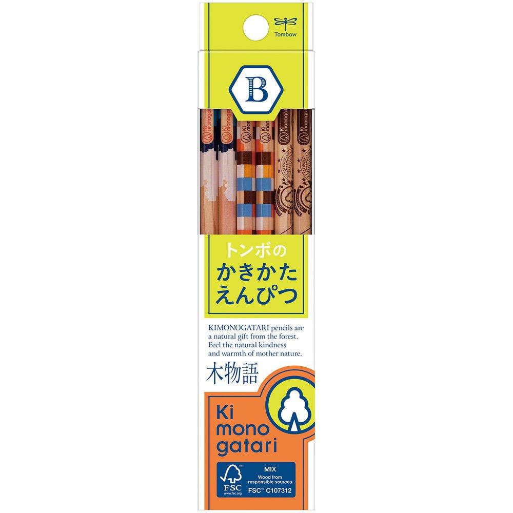 【TOMBOW/トンボ鉛筆】木物語 かきかた鉛筆F/KB-KF02(硬度:B)