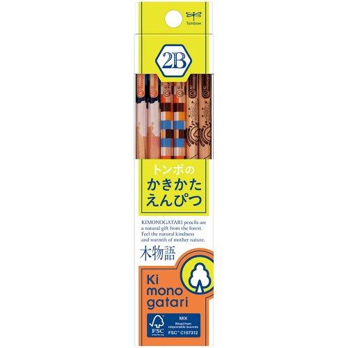 【TOMBOW/トンボ鉛筆】木物語 かきかた鉛筆F/KB-KF02(硬度:2B)