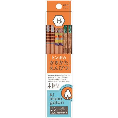 【TOMBOW/トンボ鉛筆】木物語 かきかた鉛筆F/KB-KF03(硬度:B)