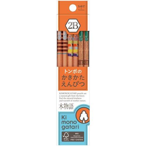 【TOMBOW/トンボ鉛筆】木物語 かきかた鉛筆F/KB-KF03(硬度:2B)