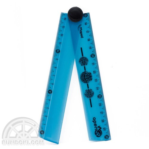 【MAPED/マペット】OPEN UP FOLDING定規 30cm(ブルー)