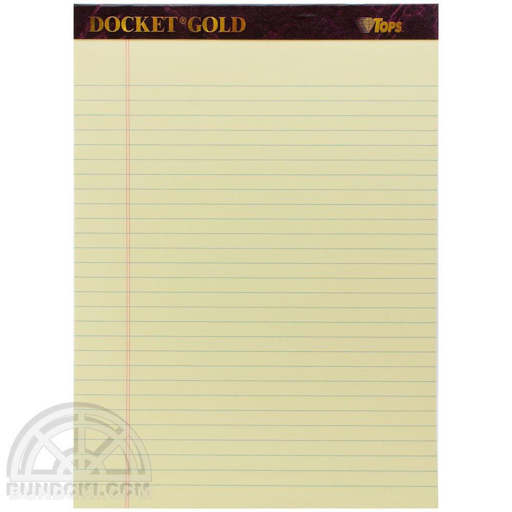 【TOPS/トップス】Docket Gold リーガルパッド(イエロー)