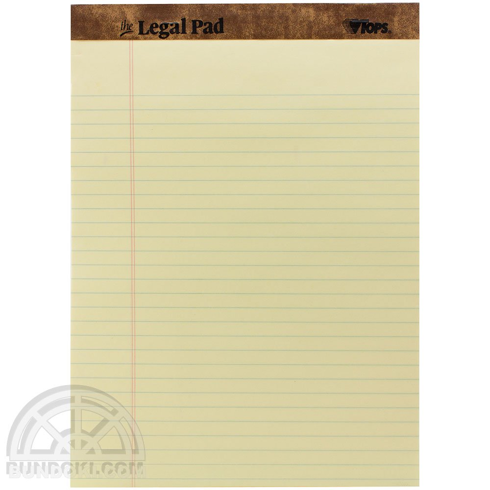 【TOPS/トップス】The Legal Pad/リーガルパッド(イエロー)