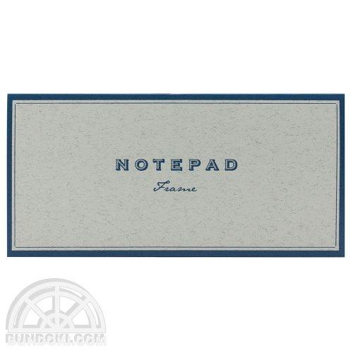 【yuruliku/ユルリク】NOTEPAD Frame/活版印刷一筆箋(ブルー)